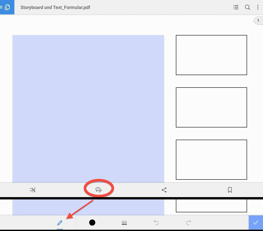 Storyboarding on Mobile Devices Acrobat Reader